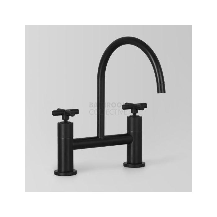 Astra Walker Icon Exposed Kitchen Sink Tap Set Cross Handles Matte Black A67 31 Matteblack