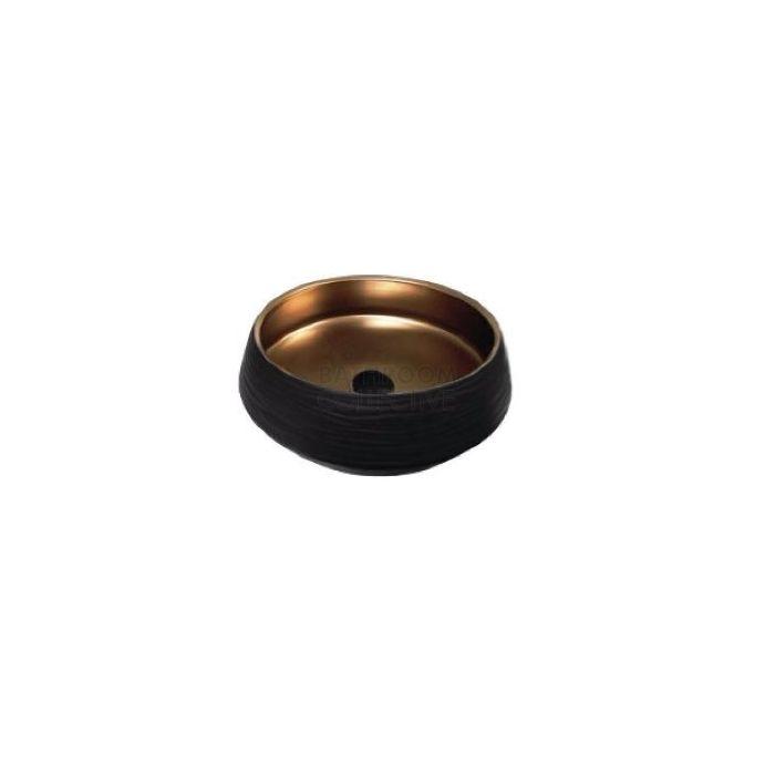 ADP - Zeus Above Counter Ceramic Basin Matte Black & Bronze 445mm