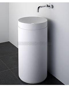 Omvivo - Mono Round Basin with Column Pedestal