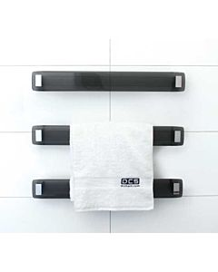 DC Short - Lava Charcoal Glass Modular Heated Towel Rail 660mm (price per rail)