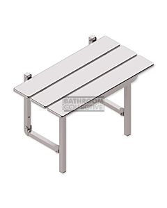 Conserv - Compact Shower Seat Stainless Steel