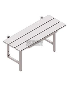 Conserv - Slatted Shower Seat STAINLESS STEEL