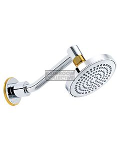 Conserv - Streamjet XL 130mm Shower Rose & Upswept Arm CHROME/GOLD