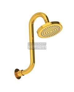 Conserv - Streamjet XL 130mm Shower Rose & Swan Neck Arm GOLD