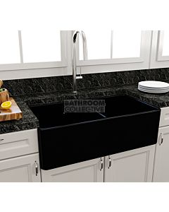 Paco Jaanson - Bocchi Casa Ceramic Kitchen Double Bowl Butler Sink 850mm GLOSS BLACK