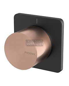 Phoenix Tapware - Toi Shower Wall Mixer Matte Black & Brushed Rose Gold