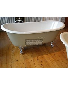 "Yoki - 5'9"" Chateau Clawfoot Cast Iron Antique Bath 1780mm"