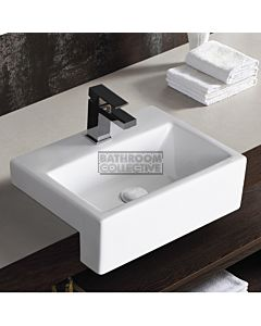 Gallaria - Sierra Ceramic Semi Recessed Basin 425 x 320mm