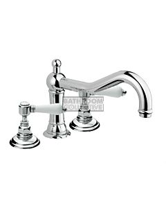 Nicolazzi - 1439 Deck Mounted Bath Tub Mixer Tap in Chrome with Petite Mont Blanc Handles