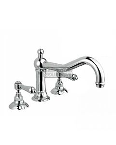Nicolazzi - 1439 Deck Mounted Bath Tub Mixer Tap in Chrome with El Capitan Handles