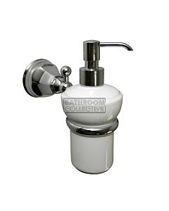 Nicolazzi 1489/05 Art Deco Ceramic Soap Dispenser & Holder