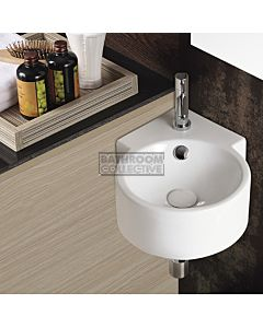 Gallaria - Coronet Corner Wall Hung Care Basin 410 x 315mm
