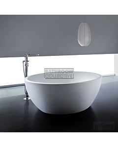 Gallaria - Round Biella Cast Stone Solid Surface Bath 1495mm