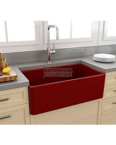 Paco Jaanson - Bocchi Casa Ceramic Kitchen Butler Sink 750mm GLOSS RED