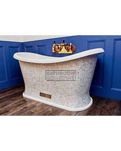 Chadder - Chariot Luxury Bath with Mother of Pearl Mosaic Exterior 1580mm (Handmade in UK)