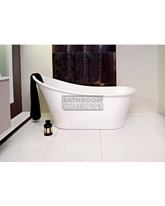 ADP - Placido 1590mm Cast Marble Freestanding Bath GLOSS WHITE