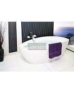 ADP - Tranquil 1560mm Cast Marble Freestanding Bath SOLID MATTE WHITE