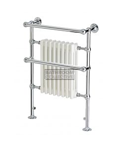 Raveena - Wall Mounted Heated Towel Warmer Dual Fuel 695x955mm
