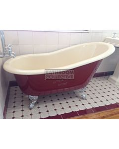 "Yoki - 4'6"" Hip Highback Clawfoot Cast Iron Antique Bath 1350mm"