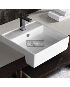 Gallaria - Zecca Ceramic Semi Recessed Basin 465 x 465mm