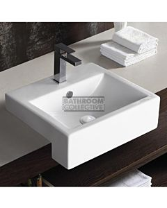 Gallaria - Stafford Ceramic Semi Recessed Basin 500 x 445mm