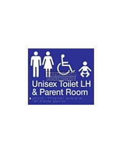Emroware - Braille Unisex Accessible Toilet & Baby Change LH 180mm x 235mm
