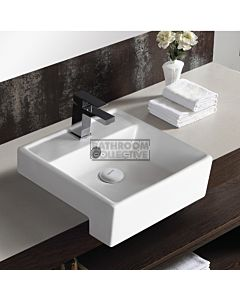 Gallaria - Savannah Ceramic Semi Recessed Basin 380 x 380mm