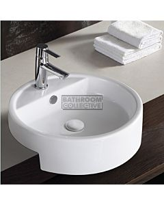 Gallaria - Savannah Ceramic Semi Recessed Basin 480mm