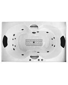 Broadway - Andorra 1790mm Island Acrylic Spa 10 Jets with Remote & Down Light WHITE