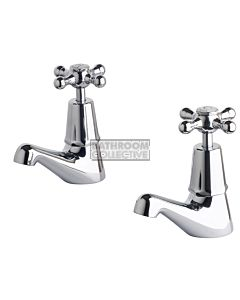 Bastow Tapware - Federation Pillar Taps with Cross Handles CHROME