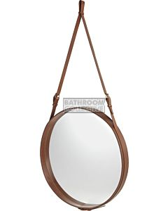 Gubi - Adnet Tan Leather Circular Wall Mirror 70cm