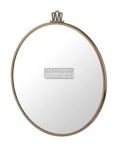 Gubi - Randaccio Wall Mirror 60cm in Vintage Brass