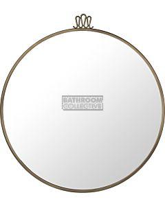 Gubi - Randaccio Wall Mirror 70cm in Vintage Brass