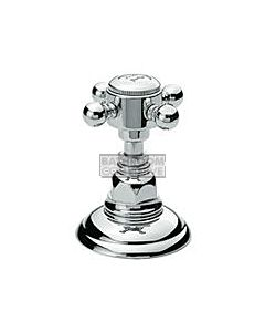 Nicolazzi - 1412 Wall / Deck Mounted Taps Pair in Chrome with Half Dome Handles