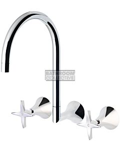 Phoenix Tapware - Wave Wall Sink Set