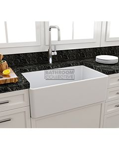 Paco Jaanson - Bocchi Casa Ceramic Kitchen Butler Sink 750mm GLOSS WHITE
