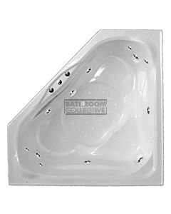 Broadway - Zahara 1490mm Tile Trim Acrylic Spa, 15 Jets with Hot Pump WHITE