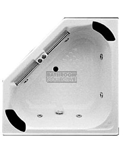 Broadway - Villena 1330mm Tile Trim Acrylic Spa, 10 Jets with Hot Pump WHITE