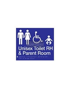 Emroware - Braille Unisex Accessible Toilet & Baby Change RH 180mm x 235mm