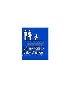 Emroware - Braille Sign Unisex Toilet & Baby Change 180mm x 235mm