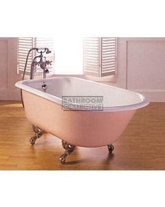 Broadway - Lion Tub Claw Foot Cast Iron Bath 1710mm WHITE