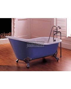 Broadway - Slipper Tub Claw Foot Cast Iron Bath 1700mm COLOUR MATCH