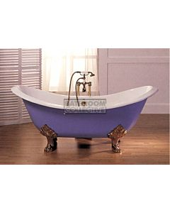 Broadway - Antique Tub Claw Foot Cast Iron Bath 1820mm WHITE