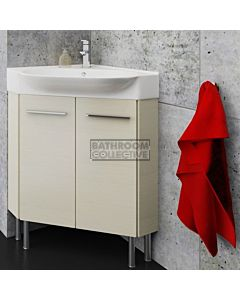 Timberline - Lisbon 510mm On Leg Corner Vanity with Ceramic Top