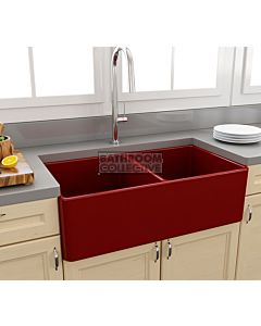 Paco Jaanson - Bocchi Casa Ceramic Kitchen Double Bowl Butler Sink 850mm GLOSS RED