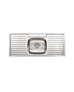 Seima - Acero Single Bowl Kitchen Sink with Double Drainer (3 Tap Hole)