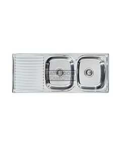 Seima - Acero A Double Bowl Abovemount Kitchen Sink, Right Bowl (1 tap hole)
