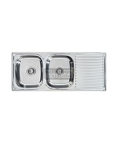 Seima - Acero A Double Bowl Abovemount Kitchen Sink (NO tap holes)