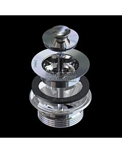 Harbic Brassware - 32MM Tapered Top & 40mm BSP 2 Part Basin Waste with Anello Stopper