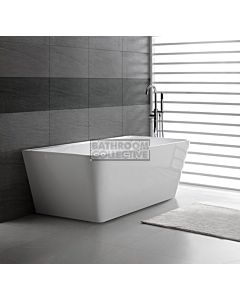 Decina - Aria 1700mm Back To Wall Freestanding Lucite Acrylic Bath
